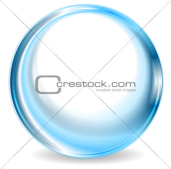 Blue abstract circle shape design