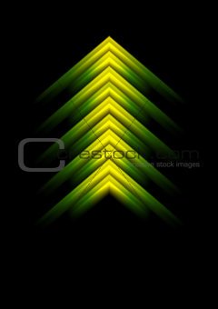 Abstract shiny arrow design