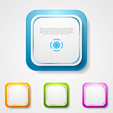 Abstract bright square stickers
