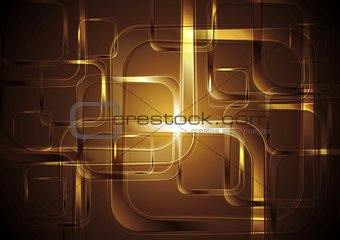 Bright squares abstract tech background