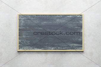 blank blackboard on the wall