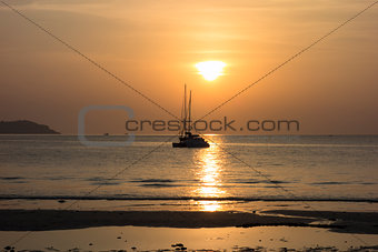 Catamaran on Sunset.