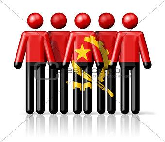 Flag of Angola on stick figure