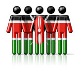 Flag of Kenya on stick figure