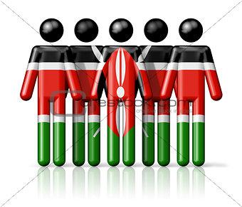 Flag of Kenya on stick figure