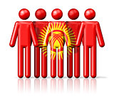 Flag of Kyrgyzstan on stick figure