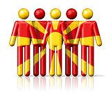 Flag of Macedonia on stick figure