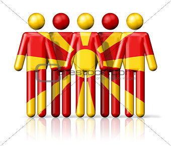 Flag of Macedonia on stick figure
