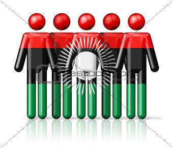 Flag of Malawi on stick figure