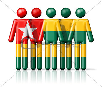 Flag of Togo on stick figure