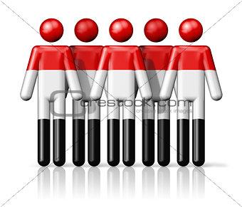 Flag of Yemen on stick figure