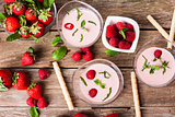 Berry milkshake