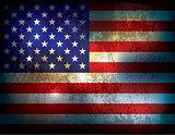Grunge Distressed American Flag Illustration