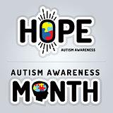 Autism Awareness Graphics Illustration