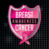 Breast Cancer Awareness Emblem Illustration