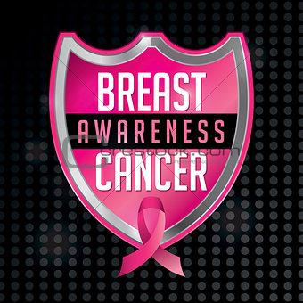 Breast Cancer Awareness Emblem Illustration