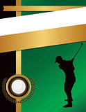 Golf Flyer Background Template Illustration