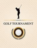 Golf Tournament Event Flyer Illustration