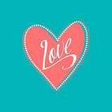 Wedding card with Love sign on turquoise background