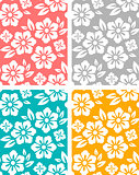 Seamless spring flower patterns