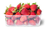 Freshly strawberries in a plastic tray