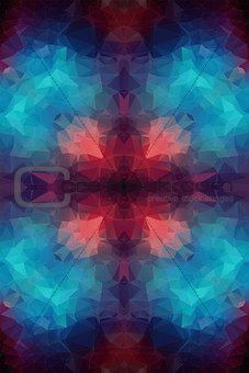 Tial orange polygonal background