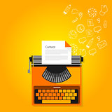 content marketing copywriting typewriter