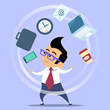 Office worker planning time juggler businessman