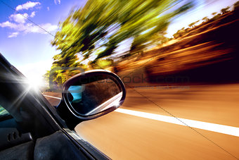Car travel concept.