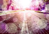 Abstract street floor