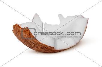 Single piece of coconut pulp