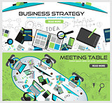 Flat Style Design Concepts for business strategy, finance