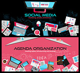 Flat Style Design Concepts for business strategy, finance,