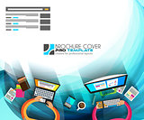 Flat Style Design Concepts for business strategy and career