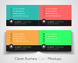 Modern Business Card Mockup for your corporate cards backgrounds
