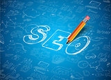 Infographic Layout for SEO Concept background