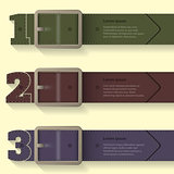 Belt buckle infographic background design