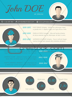 Modern resume curriculum vitae template with circle shapes