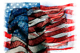 multiple exposures of the flag of the United States of America
