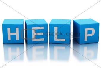 3d image of help cubes