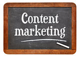 Content marketing blackboard sign