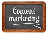 Content marketing blackboard sign