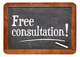 Free consultation blackboard sign