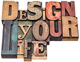 design your life word abstract