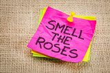smell the roses reminder note