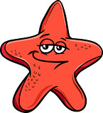 sea starfish cartoon illustration