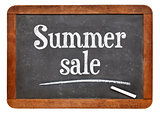 Summer sale blackboard sign