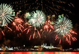 Firework over Kremlin in kazan (Russia)