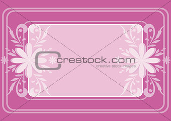 Background, flowers and frame