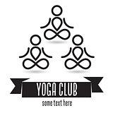 Yoga club concept